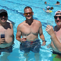 Enjoying drinks in the pool for 4th of July!