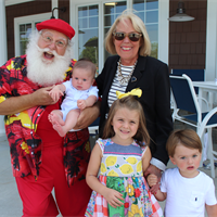 Santa came to visit all the kiddos at the pool!