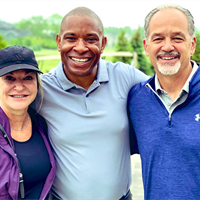 Anthony Calhoun & Chuck Pagano at the AC Golf Classic 2019
