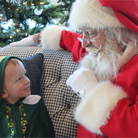 Sharing his wish list with Santa