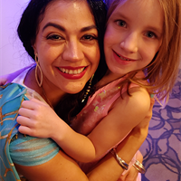 All smiles with Princess Jasmine
