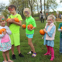 These kiddos snagged some great pumpkins from our pumpkin patch at Oktoberfest.