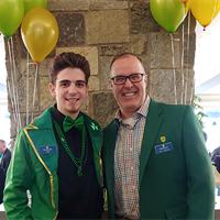 General Manager Clint with Alex on St. Patty's Day